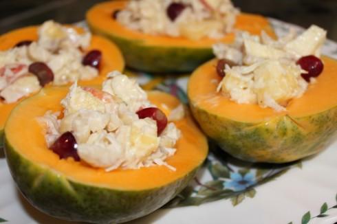 Chicken-salad-papaya-bowl
