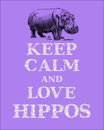 Keep-calm-and-love-hippos-print