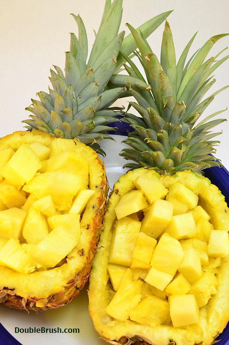 Cut pineapples