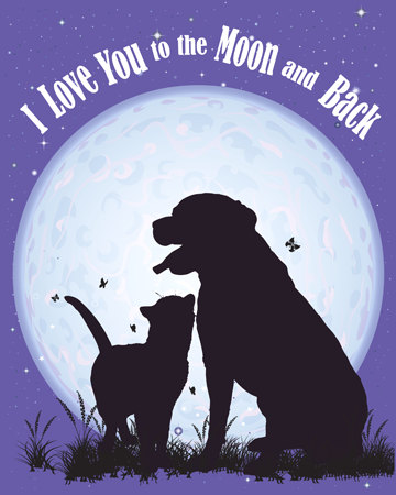 Dog-cat-i-love-you-to-the-moon-and-back